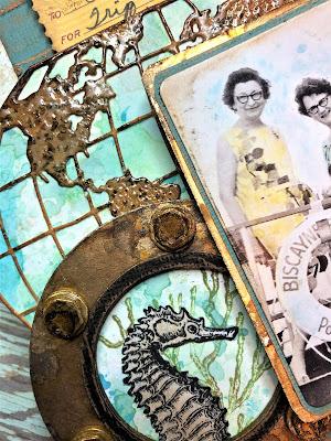 Sara Emily Barker https://sarascloset1.blogspot.com/2019/07/sea-world-etcetera-tag.html 'Sea' the World' Mixed Media Etcetera  3