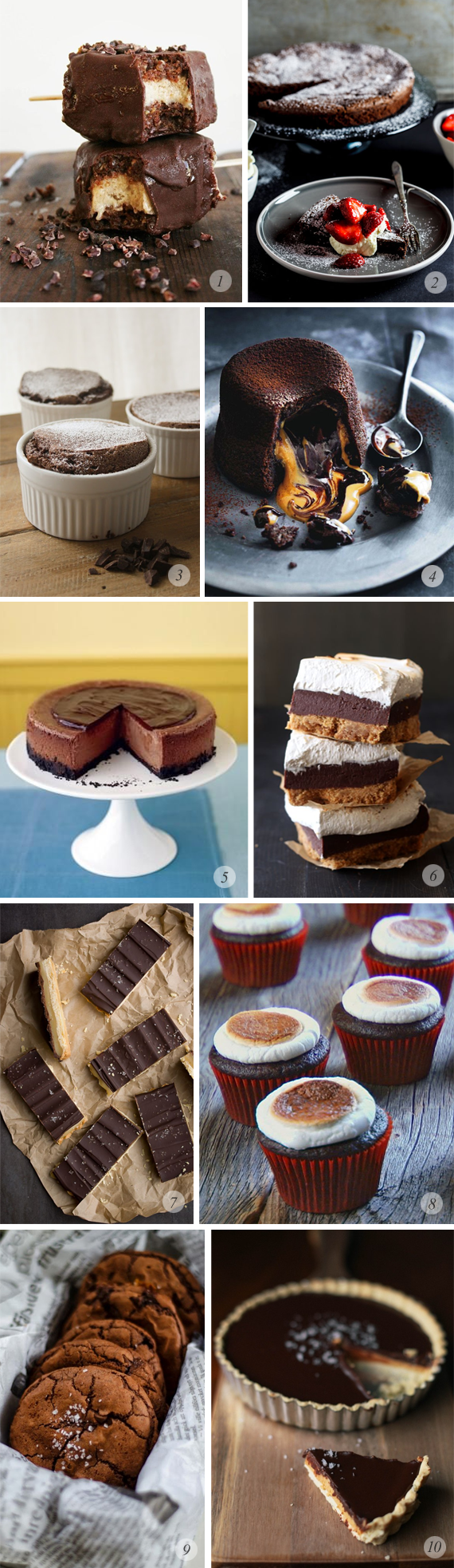10 Great Chocolate Dessert Recipes // Bubby and Bean