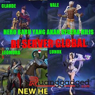Inilah Jadwal 4 Hero Baru Yang akan Rilis ke Server Global Setelah Hero Aldous