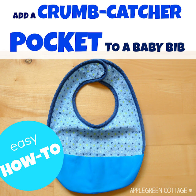 How to add a crumb catcher pocket to any bib. Easier than you think!