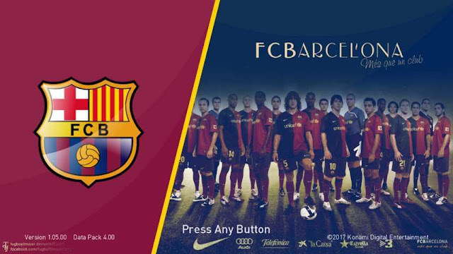 Barcelona Start Screen Pack PES 2018