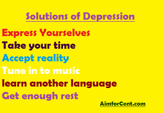 Solutions od Depression