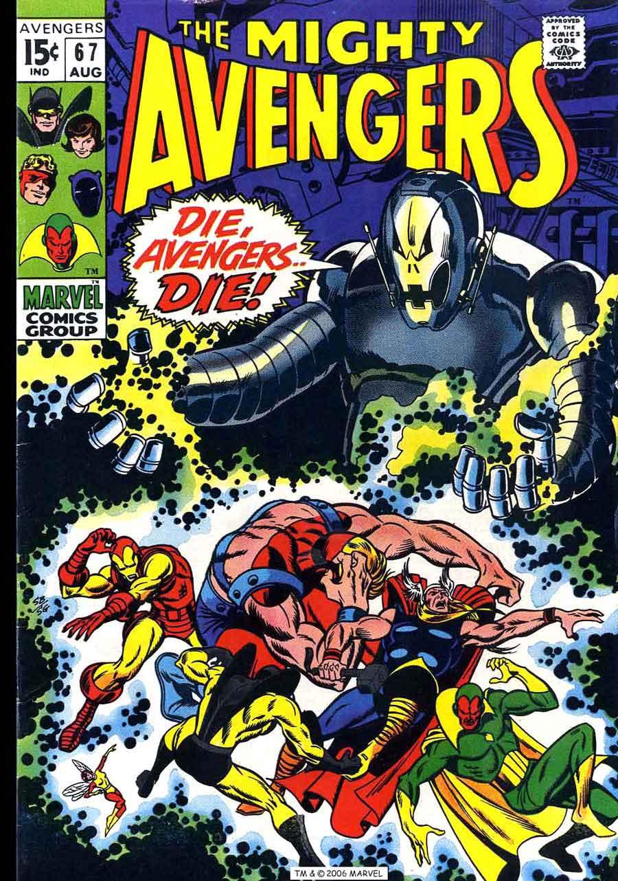 Avengers v1 #67 marvel comic book cover art by Barry Windsor Smith