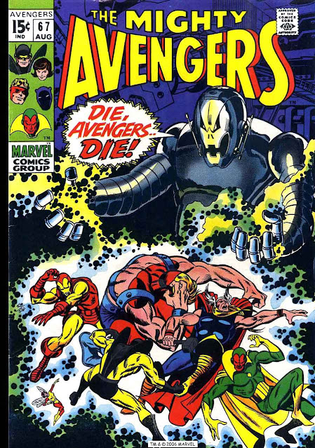Avengers v1 #67 marvel comic book cover art by Barry Windsor Smith