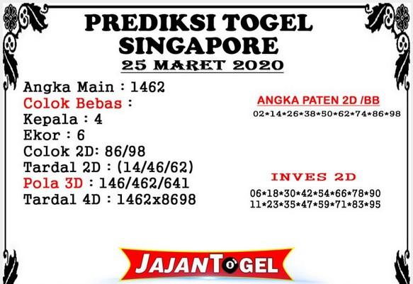 Prediksi Togel Singapura Rabu 25 Maret 2020 - Prediksi Jajan Togel
