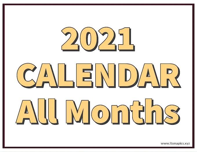 2021 Printable Calendar by Months - March, April, May, June, July, August, September, October, November, December 2021