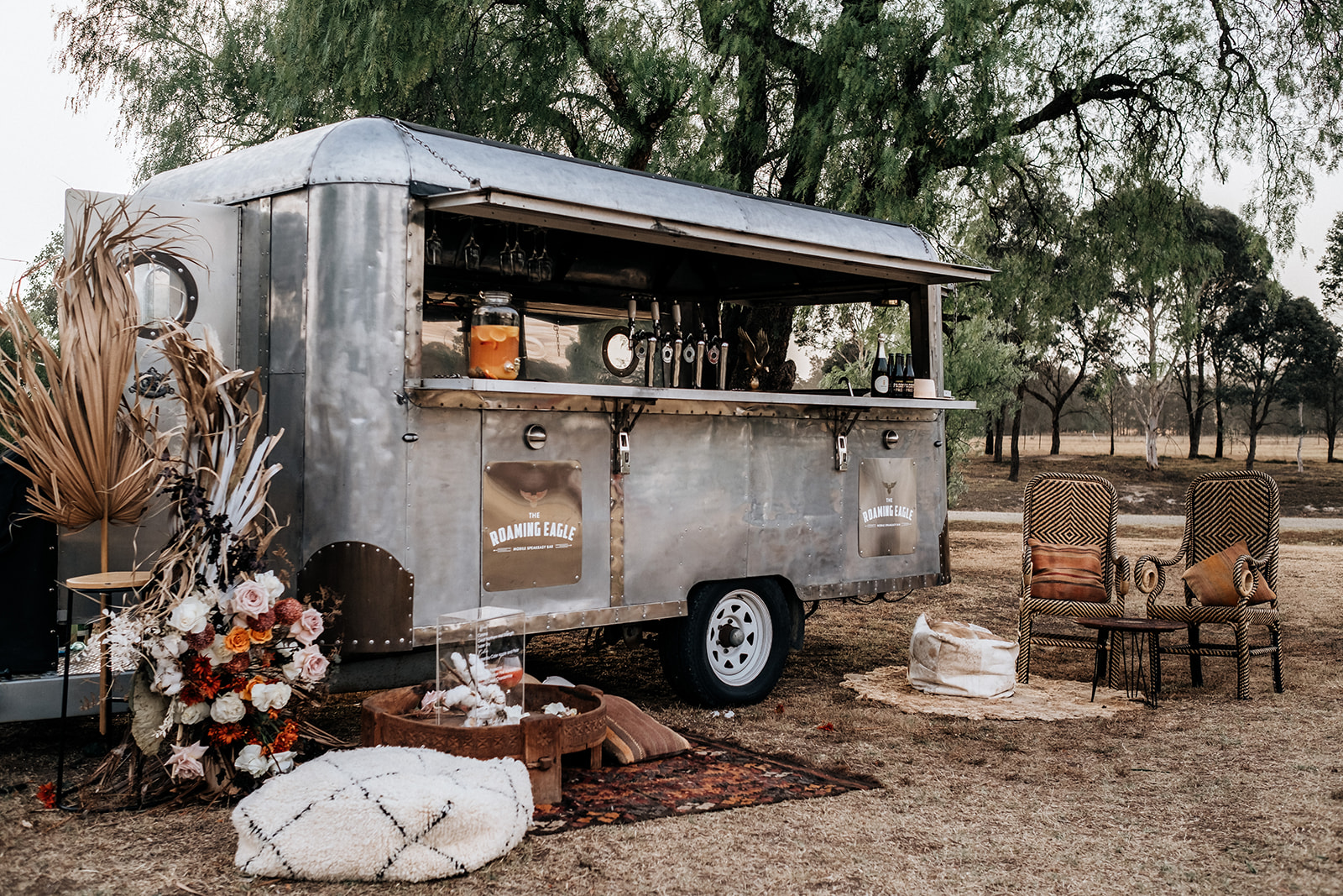 hungry hearts co photography rustic vintage mobile wedding caravan bar hire newcastle