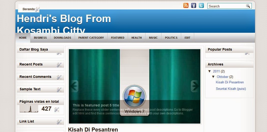 cara menganti template hasil download