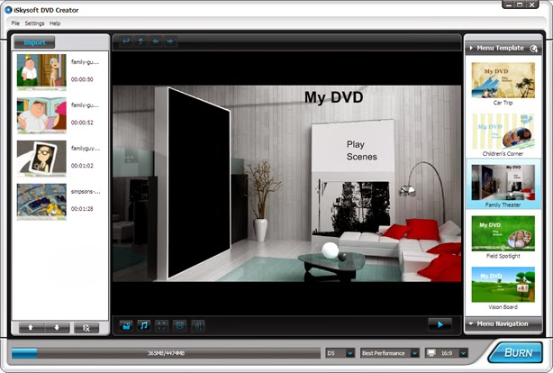 Download iSkysoft DVD Creator 1.5.2 / 3.8.0 + DVD Templates Full Version