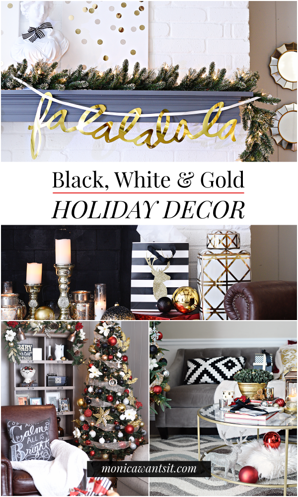 Holiday decor on a mantel