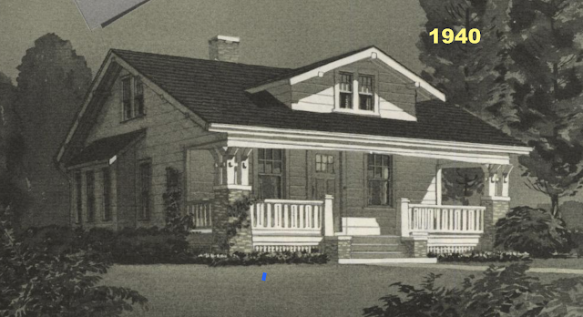 black and white image from 1940 Sears Modern Homes catalog of Sears Vallonia