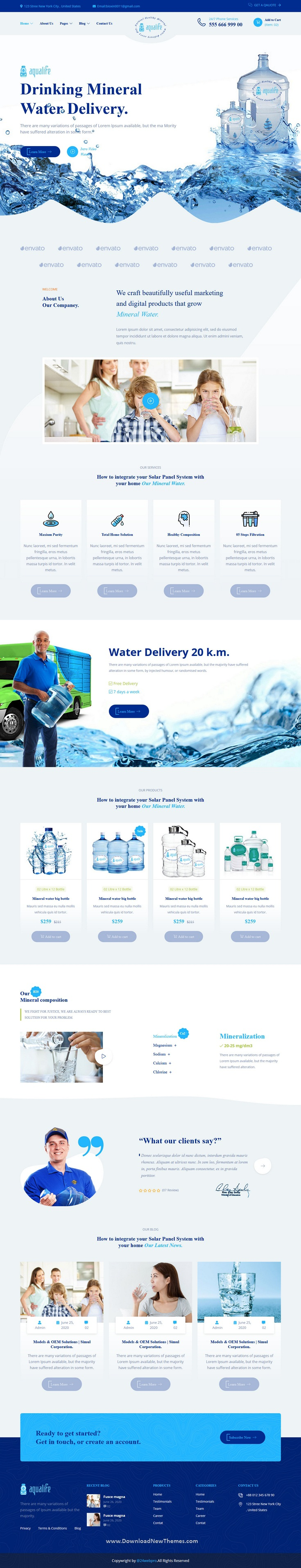 Drinking Mineral Water Delivery HTML5 Template