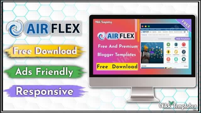 {Free} Air Flex - Magazine & News Blogger Template - {Nikk Templates}
