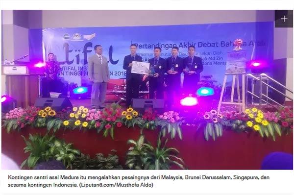 Santri Madura Juara Debat Bahasa Arab se-ASEAN