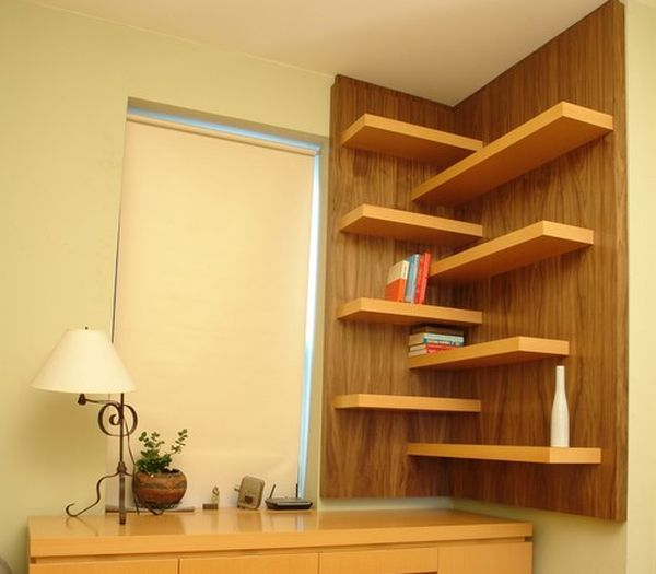30 Contemporary Interior Wall Decorations & Display Corner Shelves ...
