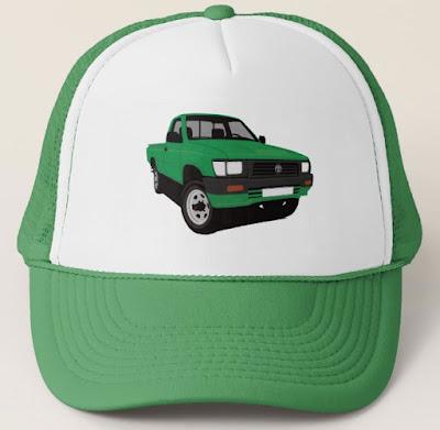 90-luvun Toyota Hilux pickup lippis