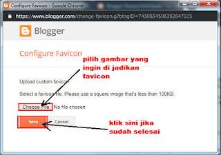 Cara Mudah Mengganti Gambar Favicon Blog di Blogger