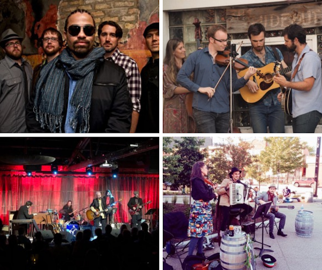 Get ready to enjoy the sounds of summer during live musical performances at Ravinia District Food Truck Thursdays! Image courtesy of Ravinia District.