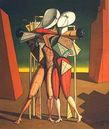 Heitor e Andromache - Giorgio de Chirico ~ Representante da pintura metafísica