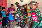 Ada Warga Kurang Mampu, Danramil 0602-01/Kota Serang Bergerak Berikan Bantuan