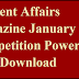 Current Affairs Magazine January 2017 - Competition Power PDF Download