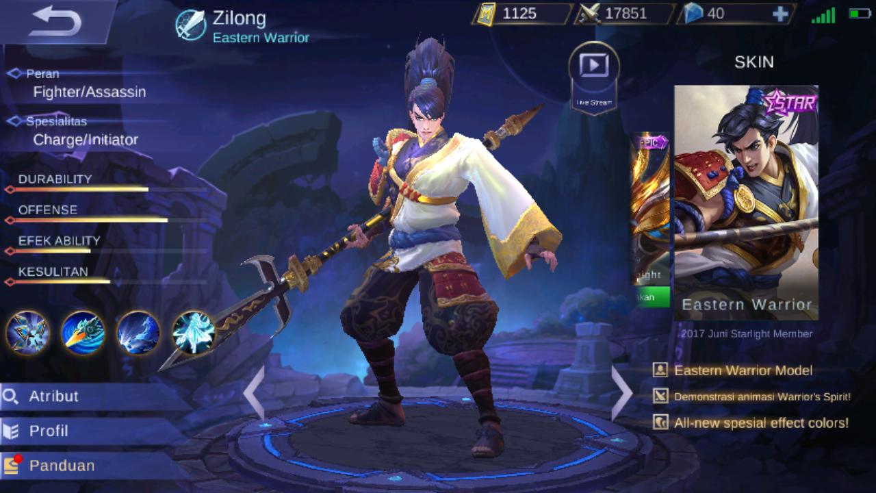 Gear Zilong Terbaru 2017 - Mobile Legends Ind