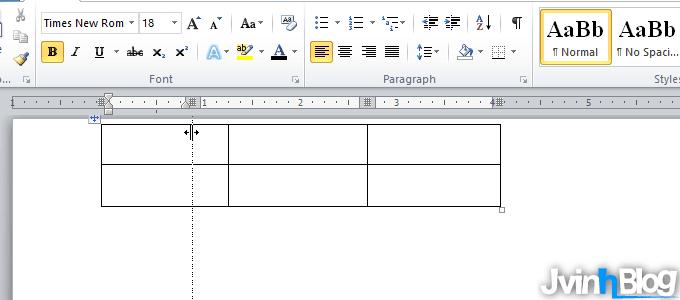 Chỉnh kích cỡ cột, hàng, bảng trong Word