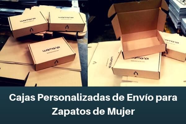 cajas personalizadas de envio para zapatos de mujer