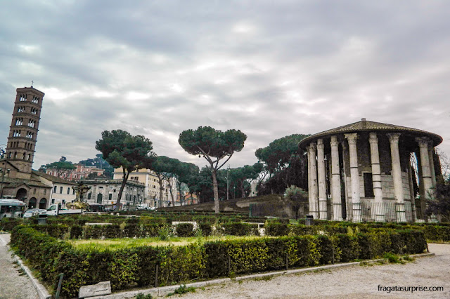 Praça da Boca da Verdade e Templo de Hércules, Roma
