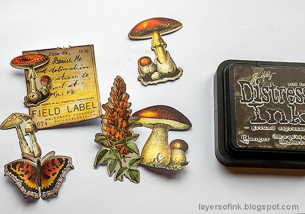 Layers of ink - Mushroom Tag Tutorial by Anna-Karin Evaldsson.