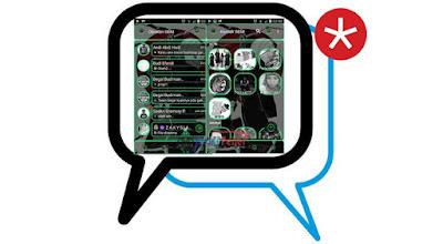 BBM Mod Green Line Transparan Base 3.0.0.18 Apk Gratis