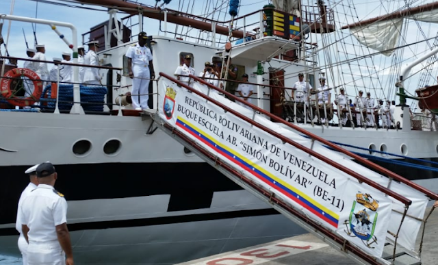 Régimen de Maduro envió buque para entrenar a cadetes nicaragüenses