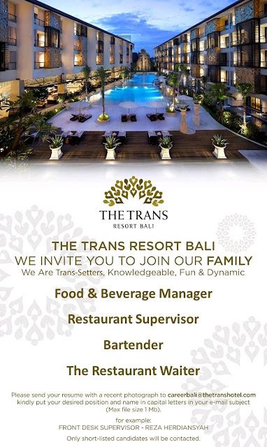 Lowongan Kerja The Trans Resort Bali 2020