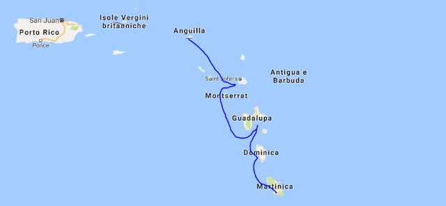 mappa antille
