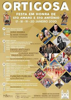 Cartaz Festas de Santo Amaro 2020 na Ortigosa