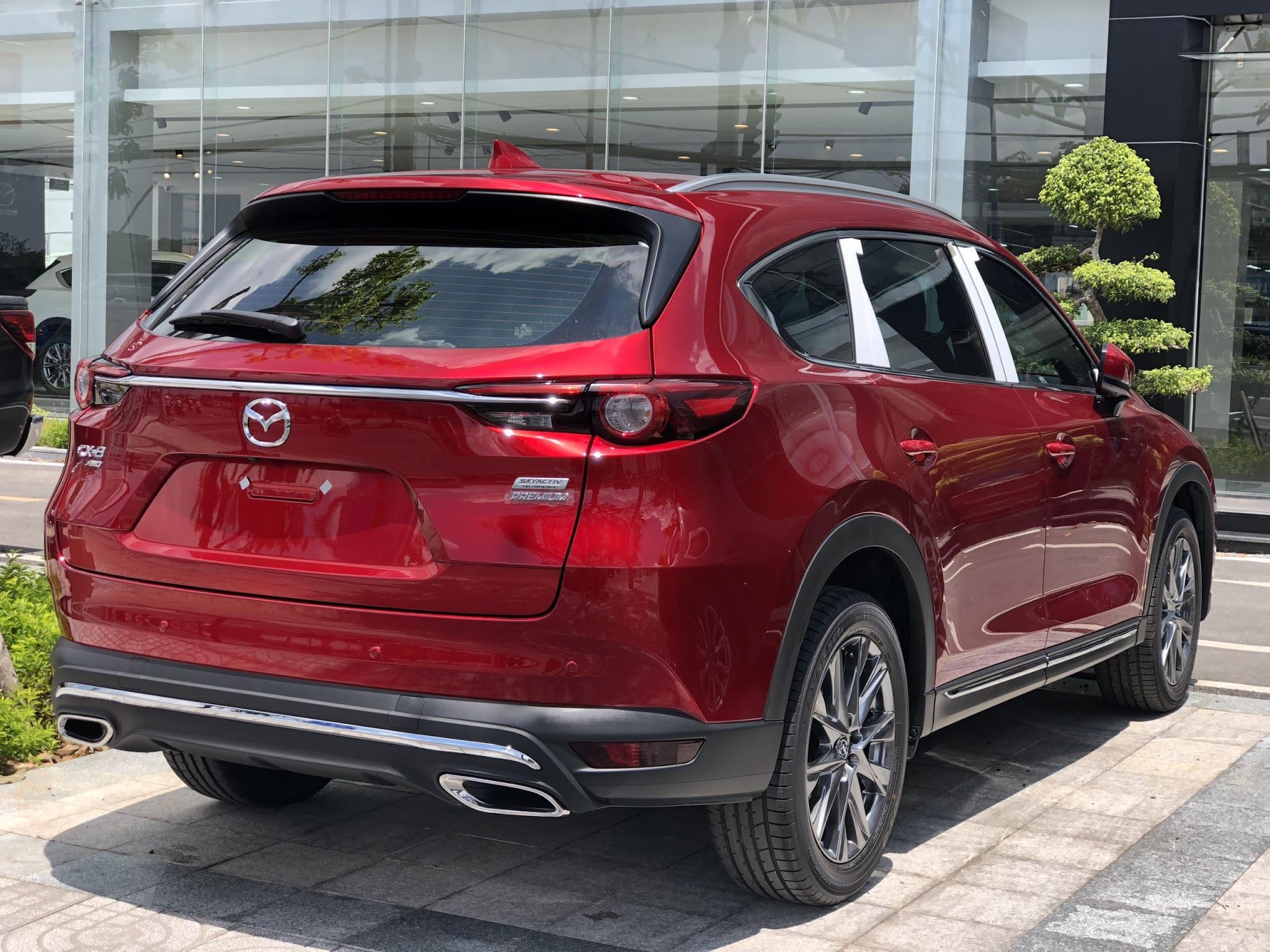 Mazda cx8 đỏ pha lê 46v