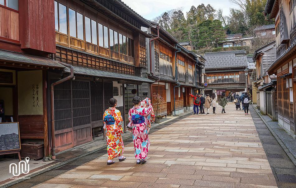 เขตร้านน้ำชา Higashi Chaya เมือง Kanazawa