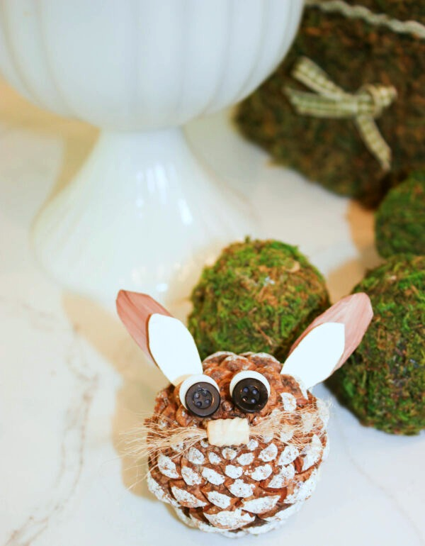 pine cone bunny