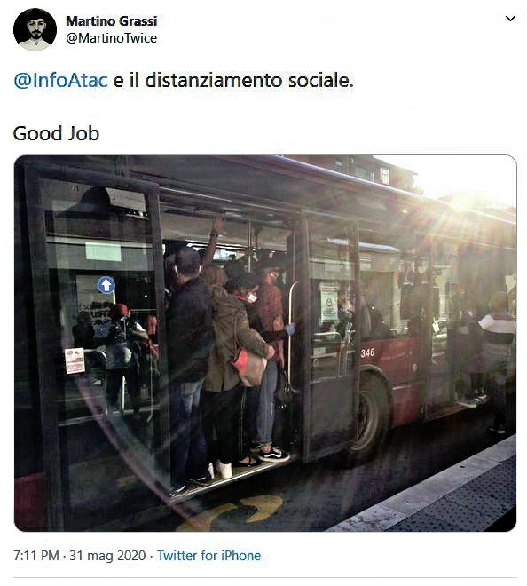 Situazione del trasporto pubblico di Roma di lunedì 1 giugno