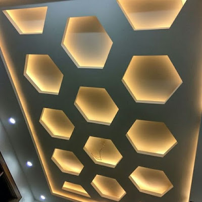 Latest modern pop false ceiling design for living room hall bedroom hallway 2019