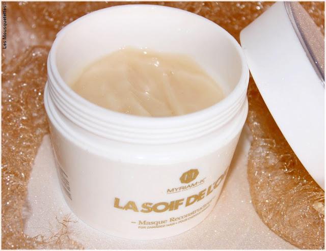 Myriam K, La Soif de l'Or, gamme soin capillaire à la poudre d'or - Masque - Blog beauté