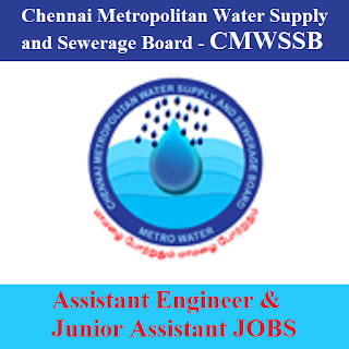 Chennai Metropolitan Water Supply and Sewerage Board, CMWSSB, TN, Tamil Nadu, Assistant Engineer, Junior Assistant, freejobalert, Sarkari Naukri, Latest Jobs, cmwssb logo
