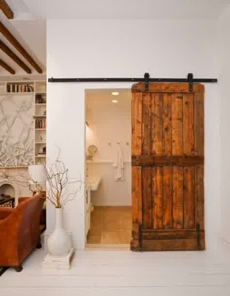Contoh pintu kamar mandi elektik berbahan kayu