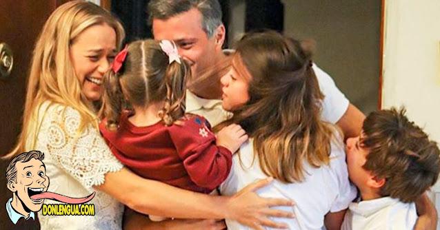 Leopoldo Lopez y su familia en España