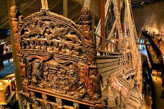 Detalle esculturas popa del Vasa