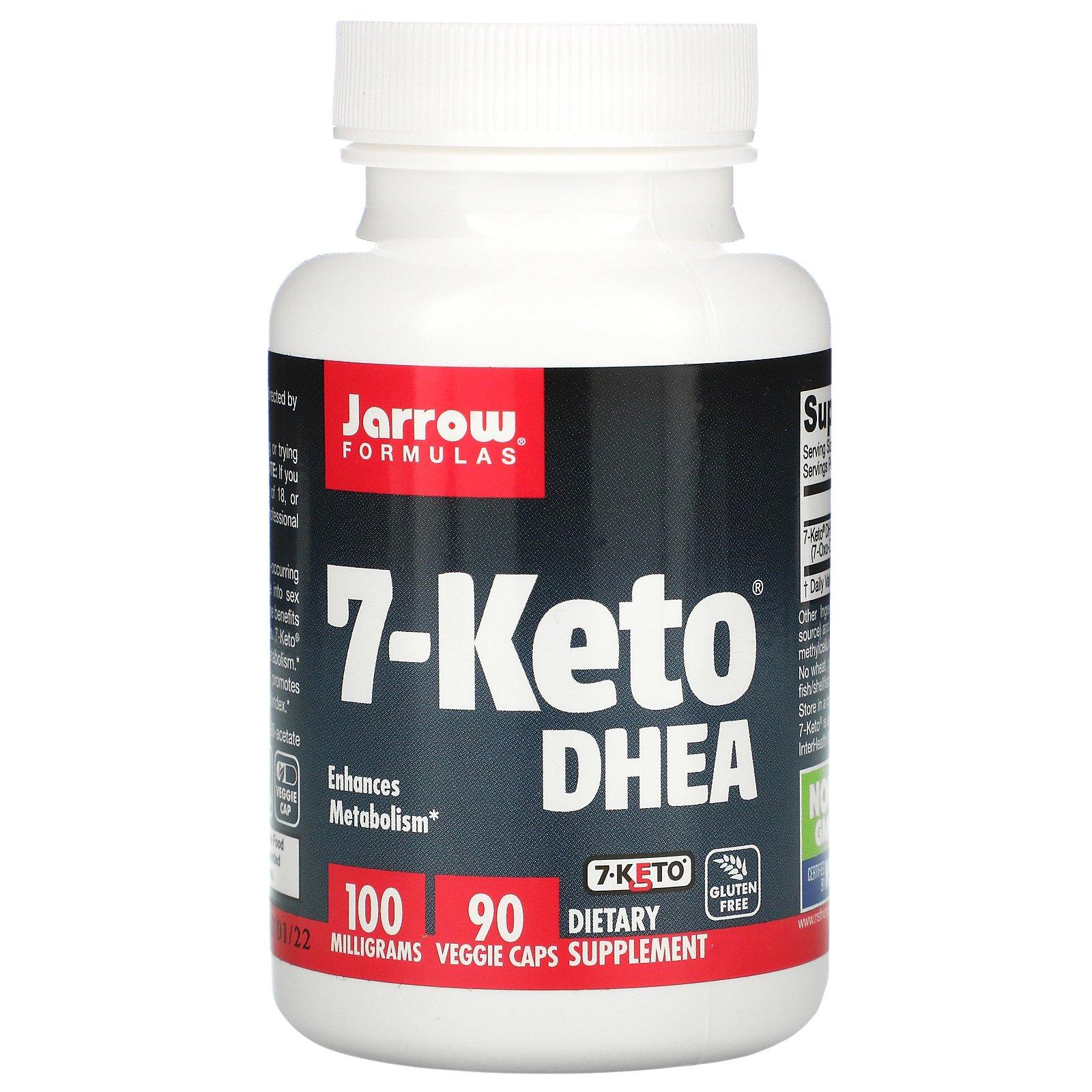 Jarrow Formulas, 7-Keto, ДГЭА, 100 мг, 90 вегетарианских капсул