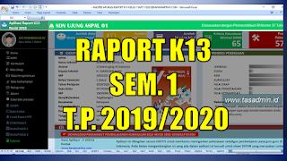 update terbaru aplikasi raport kurikulum  TAS:  Update Aplikasi Raport Kang Martho Semester 1 T.P. 2019/2020
