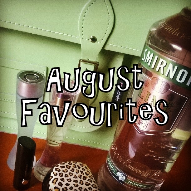 August Favourites, tangle teezer, bare minerals, Ghost perfume, Zatchels, Smirnoff