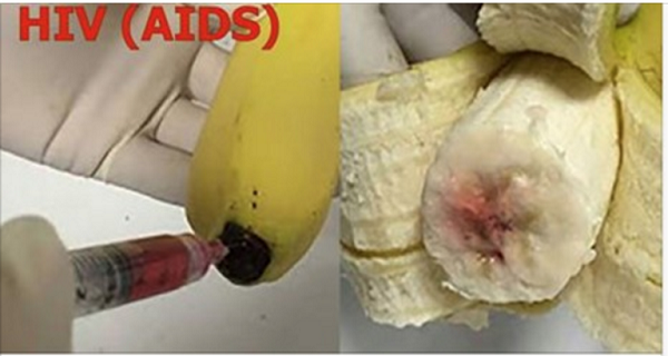 Attention! BANANAS Being Injected With HIV-AIDS