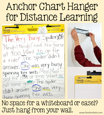 how to hang anchor chart on wall